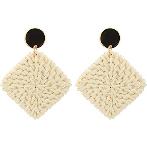 XBKPLO Rattan Earrings 's...