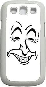 Facial Expression- Case for the Samsung Galaxy S III-S3- Hard White Plastic Snap On Case