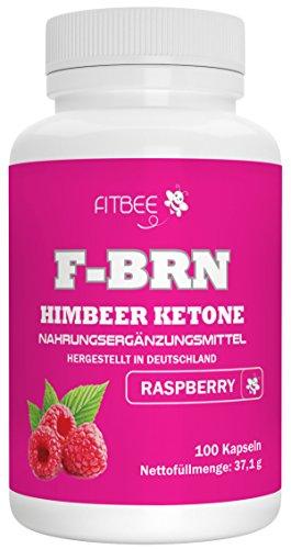 Fitbee - F-BRN Himbeer Ketone | Diät-Kapseln | Hochwertige Qualität aus Deutschland