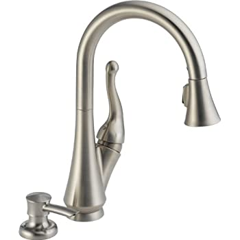 Delta 16968 SSSD DST Talbott Single Handle Pull Down Kitchen Faucet With  Magnetic Docking Spray Head And Soap Dispenser, Stainless