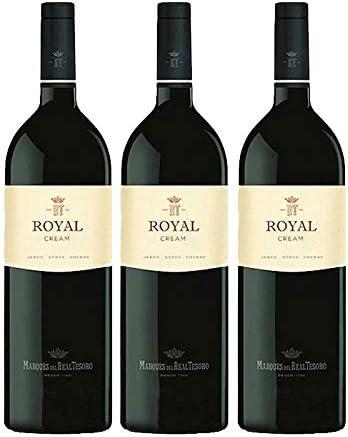 Vino Royal Cream de 75 cl - D.O. Jerez - Bodegas Grupo Estevez (Pack de 3 botellas): Amazon.es: Alimentación y bebidas