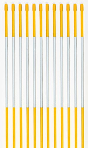 """Driveway Markers, PRO Snow Stakes Reflective With Armor Cap, 4 Ft, 5/16"""" (500 Pack, Yellow)"""