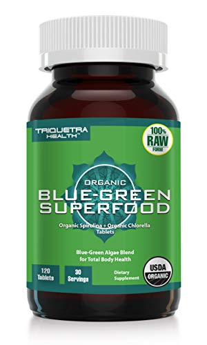 Organic Spirulina & Chlorella Tablets – Purest Spirulina & Chlorella in the World with 4 Organic Certifications – Green Superfood Blend for Total Body Health – Broken Cell Wall Form Chlorella