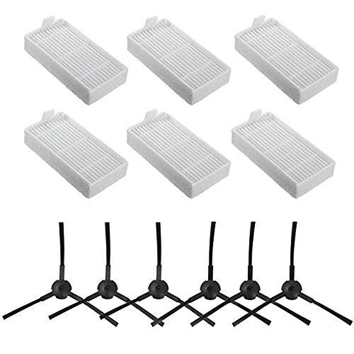 V5 y V5S V5S Pro Altamente Eficiente RETYLY 20 Paquete De Accesorios De Filtro y Cepillo De Repuesto para El Robot Aspirador Ilife V3S V3S Pro