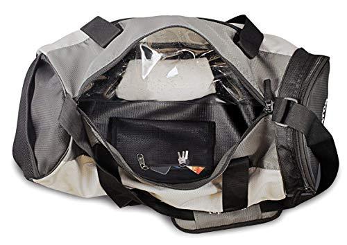 41pZpCIv85L TopGator Gym Bag Sports Duffel with Shoe Compartment 34 L (Grey/Black)