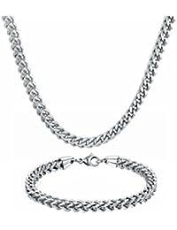 Stainless Steel Men Jewelry 3-6MM Wide 8