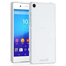 Fosmon Sony Xperia Z3+ Case (DURA-FRO) Slim-Fit Flexible TPU Gel Case Cover for Sony Xperia Z3+ - Fosmon Retail Packaging (Clear)