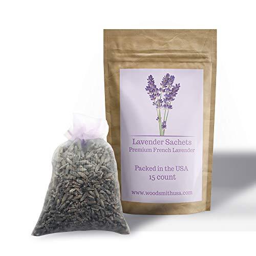 (Lavender Sachets |15 Pack| Lavender Sachet Color | Sachets Lavender | Lavender Scented Sachets | Lavender Drawer Sachets)