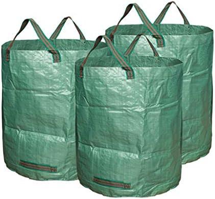 Césped Jardín Bolsas Yard desperdicio de bolsas de 3-Pack 72 galones reutilizables hierba de la hoja bolsa de basura Contenedores de residuos de jardinería césped Yard bolsas de desechos Maneja Profes: Amazon.es: