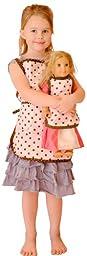Girl & Doll Pink Polka Dot Aprons