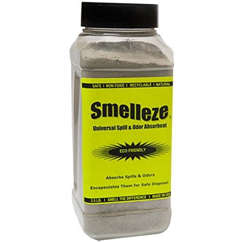 SMELLEZE Eco Universal Spill & Smell Removal Deodorizer: 2 lb  Granules  Clean Any Spill