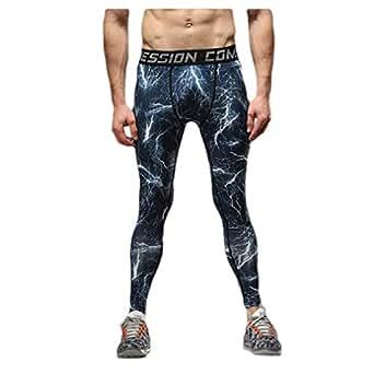 Mogogo Mens Compression Camouflage Quick Dry Sport Activewear Tights Legging 1 2XL