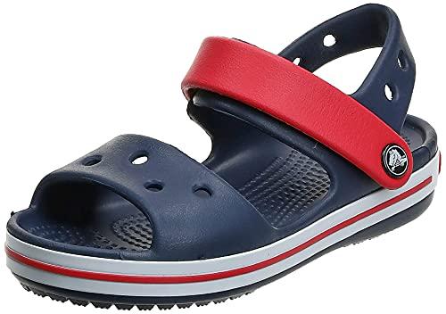 Crocs Crocband Sandal Kids, Sandalias Unisex Niños, Azul (Navy/Red), 32/33 EU