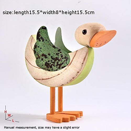 ZAMTAC Creative Natural Pure Wooden Birds Duck Figurines Home Wine Cabinet Decoration Crafts Tea Ceremony Tea Pets - (Color: A)