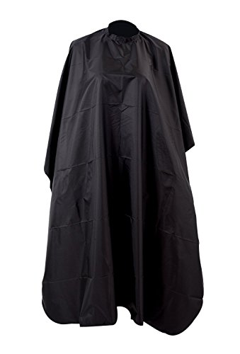 Hooleep Hair Cut Hairdressing Cape, Professional Hair Salon Nylon Hairdressers Barbers Cape Gown, Black