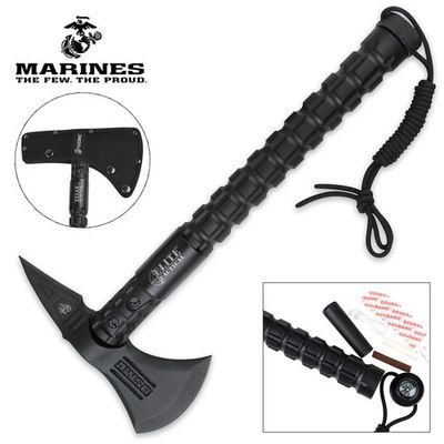 Officially Licensed USMC Elite Tactical Bruiser Survival Tomahawk ()