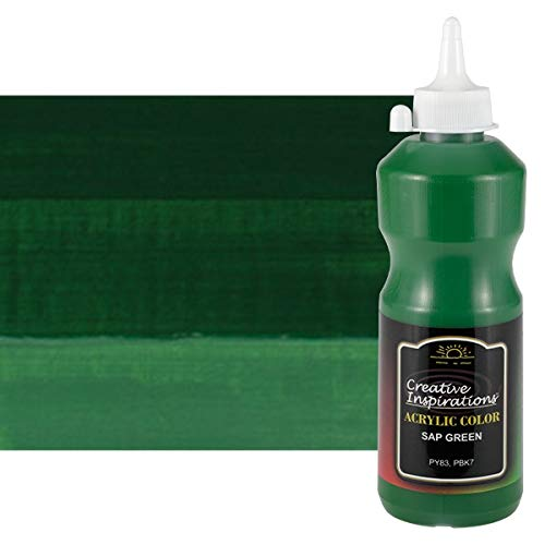Creative Inspirations Acrylic Paint - Acrylic Paint Smooth, Rich, Creamy & Free-Flowing Non-Toxic - [SAP Green- 500 ML]