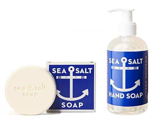 KALASTYLE Swedish Dream Sea Salt Invigorating Bath and Liquid Hand Soap, Bar and Pump Bottle, Set of 2