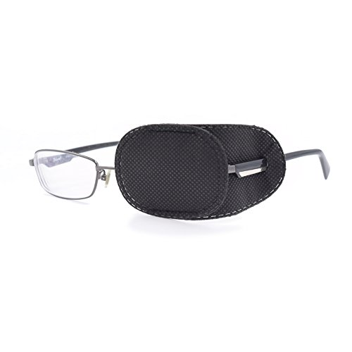 63b3890ba851 FCAROLYN 6pcs Eye Patch for Glasses to Treat Lazy Eye/Amblyopia / Strabismus ,Black