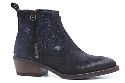 Alpe 34567528 Navy Suede Feature Ankle Boots 2uWa8r