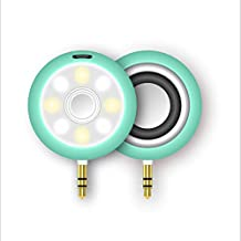 Rosbane(TM) Portable 3.5mm AUX Wireless Lights Small Speaker Beauty Smartphone Self-Timer Fill Light Mobile Phone Audio Broadcast Beauty[ Green ]