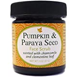 Organic Pumpkin and Papaya Seed Face Scrub and Mask with Moroccan Red Rhassoul Clay, Raw Honey, Papaya Seeds, Pumpkin Seeds; All Natural, Vegetarian, Certified Cruelty Free, Handcrafted 1.7 fl. oz
