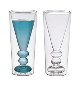 Bitossi home bhv12674 set 2 vasos licor c ctel de vidrio for Vasos de coctel