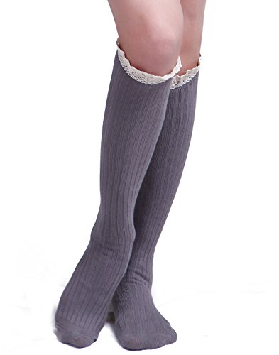HDE Womens Crochet Cotton Stockings