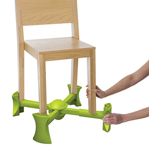 Kaboost Booster Seat for Dining, Green - Goes Under The Chair - Portable Chair Booster for Toddlers