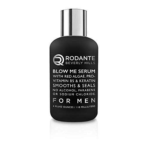 Men Leave In Conditioner Serum   Rodante Beverly Hills Premium  Keratin Treatment Conditioner for Men, Infused with Red Algae and Pro Vitamin B5   4 oz   Made in USA