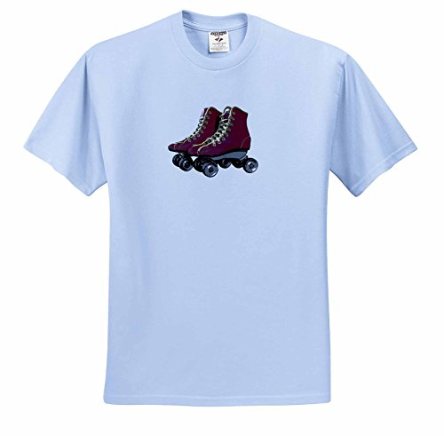 florene-retro-image-of-retro-roller-blades-drawing-t-shirts-youth-light-blue-t-shirt-med10-12-ts-233