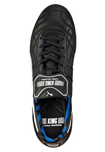 Puma King FG Lothar Matthäus Zapato de fútbol Hombre - negro/blanco/azul