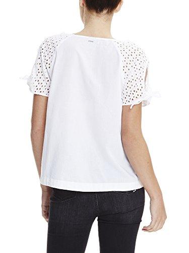 Bench Raglan Shirt with Knot Detailing, Camiseta para Mujer Weiß (BRIGHT WHITE WH11185)