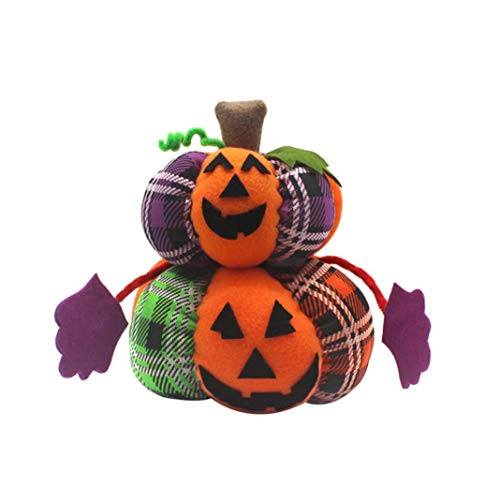 Loneflash Halloween Doll Toys,Pumpkin Cat Ghost Halloween Decoration Home Ornament Plush Stuffed Doll Decor (B) ()