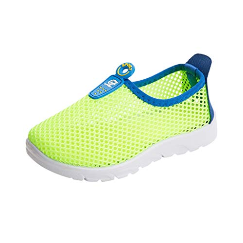 Tantisy ♣↭♣ Children's Sports Shoes Baby Girls Boys Mesh Breathable Sport Run Sneakers Soft Casual Outdoor Shoes Green ()