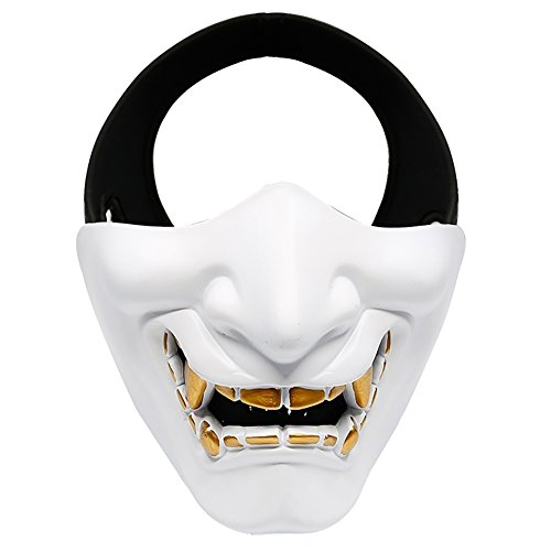 ChoppyWave Women Men Halloween Devil Masquerade Party Cosplay Scary Tactical Film Mask White