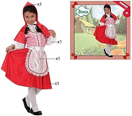Atosa roja Disfraz Caperucita, 5 a 6 años (19335): Amazon.es ...