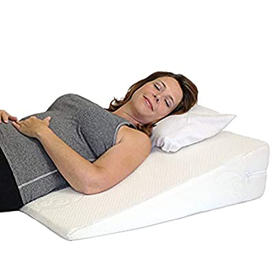 "Acid Reflux Wedge Pillow - USA Made with Memory Foam Overlay and Removable Microfiber Cover""Big"" by Medslant. (31x28x7) Recommended Size for GERD and Other Sleep Issues."