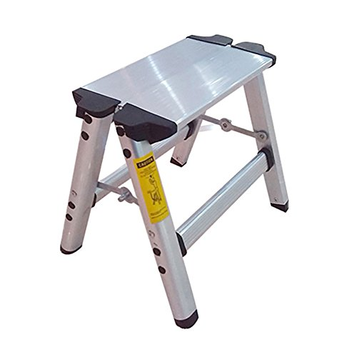Ladder stool Household Folding Two-step Aluminum Alloy Thicken Bench Ladder Anti Slip Foot Stool Dual-use Step Stool Stepladders Load Capacity up to 150 ()