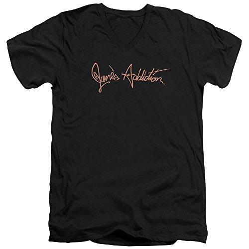 Jane's Addiction - Script Logo - Adult V-Neck T-Shirt - Large