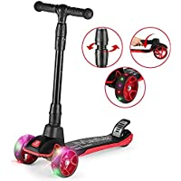 Z ZANMAX Three Wheel Kick Scooter with Adjustable Handles and Light-up Wheels