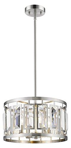 6007-15BN Brushed Nickel Mersesse 4 Light 15-5/8