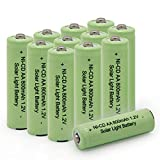 BAOBIAN AA NICD 800mAh 1.2v Rechargeable Battery for Outdoor Solar Lights,Garden Lights, Remotes, Mice (12 PCS)
