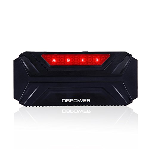 DBPOWER 600A Peak 16500mAh Portable Car Jump Starter Auto Battery Booster Charger Phone Laptop Power Bank with LED Flashlight, Red Emergency Light, Compatible for Engines up to 5L Gas and 3L Diesel