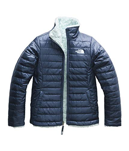 The North Face Girls Reversible Mossbud Swirl Jacket - Blue Wing Teal & Origin Blue - XXS