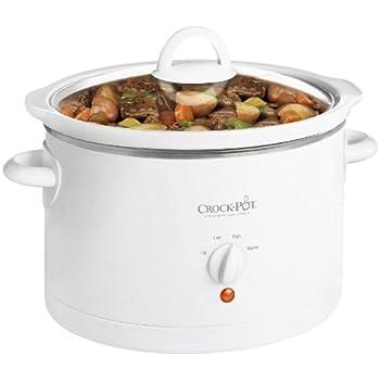 Crock-Pot 3060-W 6-Quart Round Slow Cooker, White