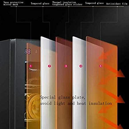 Vinoteca,4 Botellas, Led, Display Digital, Panel De Control Táctil, 4Estantes Extraíbles Cromados, El Volumen Es 13L, Negro