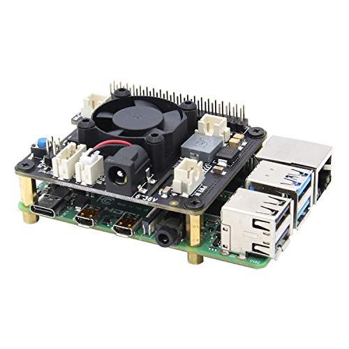 Geekworm Raspberry Pi X710 Power Management Board with Wide Voltage Input(6V to 36V), Safe Shutdown and Cooling Expansion Board for Raspberry Pi 4 Model B/Pi 3B+/3B/3A+