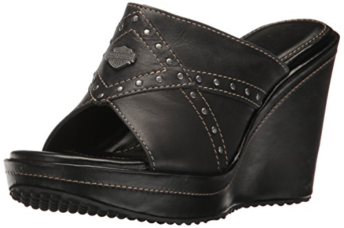 Harley-Davidson Women's Leawood Platform Dress Sandal, Black, 10 M US