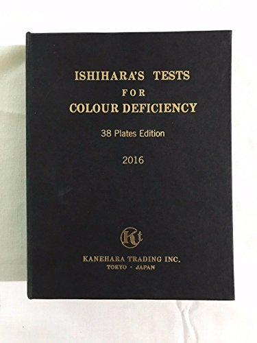 Ishihara's Book for Colour Deficiency Latest Edition 38 Plates with User Manual ()